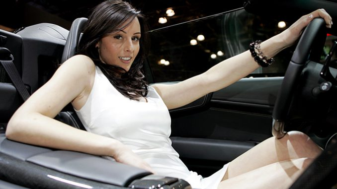 Luxury car girls models